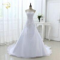2019 New Arrival Hot Wedding Dresses Elegant Organza Applique Beading Vestidos De Novia Plus Size Beach Bridal Gowns 39001231