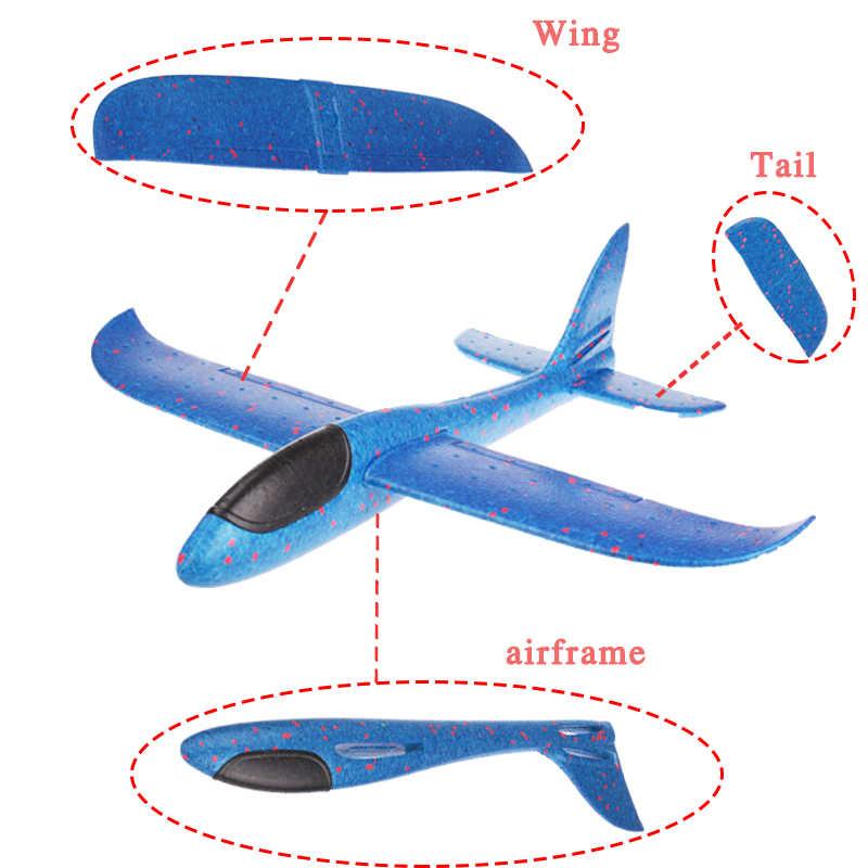 48 Cm * 48 Cm DIY Tangan Melemparkan Terbang Glider Pesawat Mainan untuk Anak Busa Pesawat Model Terbang Glider Pesawat mainan Permainan