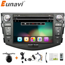 Eunavi Toyota Rav4 Için Araba DVD 2 din Android 6.0 2007 2008 2010 ile 2din araba pc stereo gps navigasyon kapasitif ekran + wifi