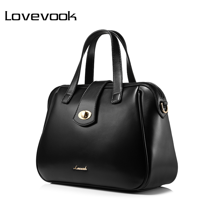 LOVEVOOK brand handbag women medium shoulder bag female casual tote satchel top handle bag Black/Green/Wine Red zipit сумка medium shoulder bag