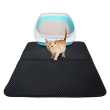 Waterproof Pet Cat Litter Mat EVA Double Layer Trapping Pets Pad Bottom Non-slip Floor
