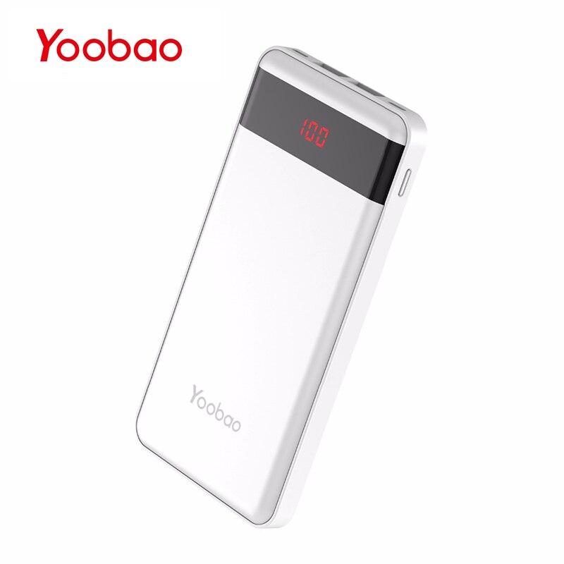 Yoobao KJ04 10000mAh Portable Charger Ultra Thin Battery Pack Li Polymer Power Bank with Digital Display