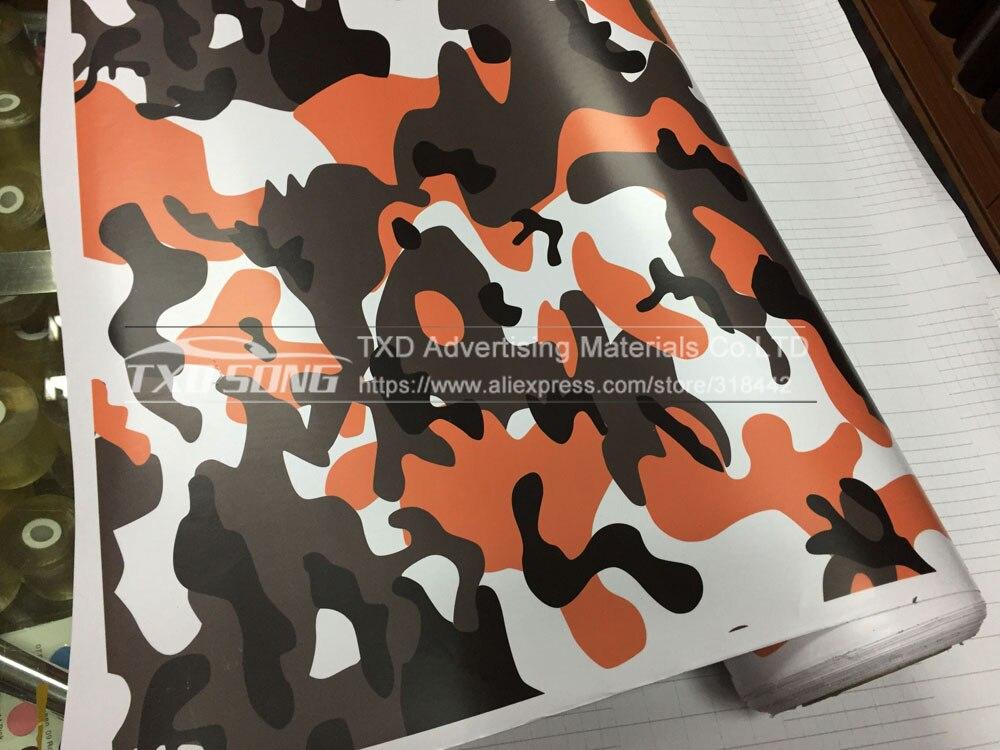 Premium digitale Orange Camouflage Vinyl Film Folie Auto Wrap Mit Luftblase Frei Fahrzeug Motorrad Roller Aufkleber Aufkleber Verpackung - 5
