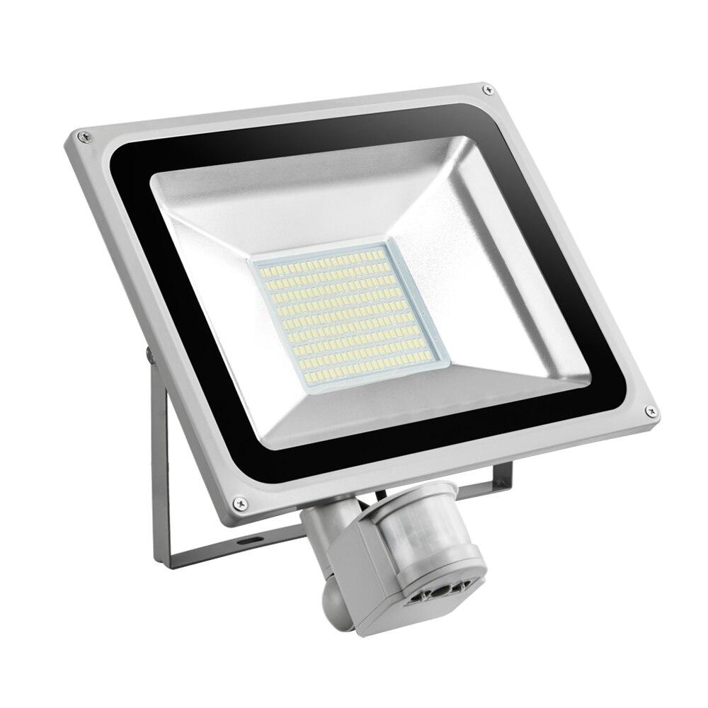 2 Pcs 100 W PIR Infrarouge Motion Sensor Lumière D'inondation 220 V-240 V 11000LM PIR Infrarouge Capteur Projecteur LED Lampe Pour L'éclairage Extérieur - 5