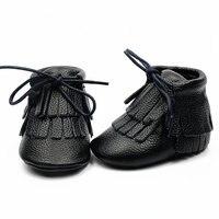 Nieuwe 2017 Lederen baby Fringe laarzen Babyschoenen lace-up baby mocassins gils jongen Schoenen 21 kleur