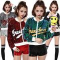 Sequined Jacket Plus Size Nightclub DS Costume New Female Singer Jazz Dance Clothes Hip Hop Women Sequins Short Coat Clubwear