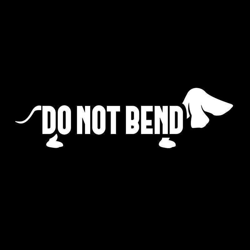 Автомобильный Стайлинг не сгибайте наклейка с таксой Винер собака Стикеры наклейка на окно автомобиля Стикеры наклейка Jdm