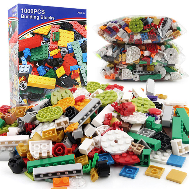 <font><b>1000PCS</b></font> Creative Bulk Classic Bricks Sets Educational Toys for Children Compatible <font><b>LegoINGLY</b></font> image