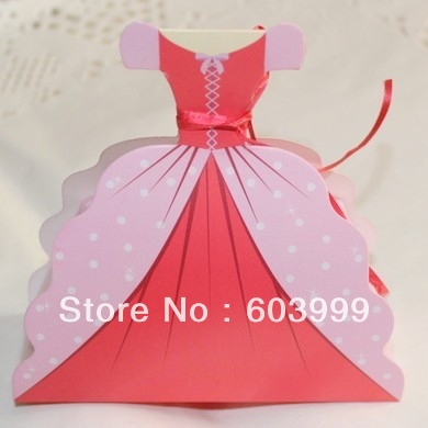 100 Princess Sleeping Beauty Dresses Favor Bo Gown Bridal Dress Wedding Favors Gift Candy Box