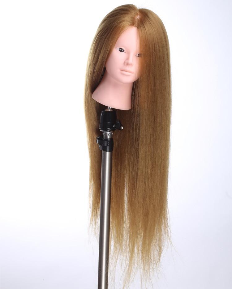 Brown Hair Makeup Mannequin Head Hairdressing Ausbildungspraxis Doll