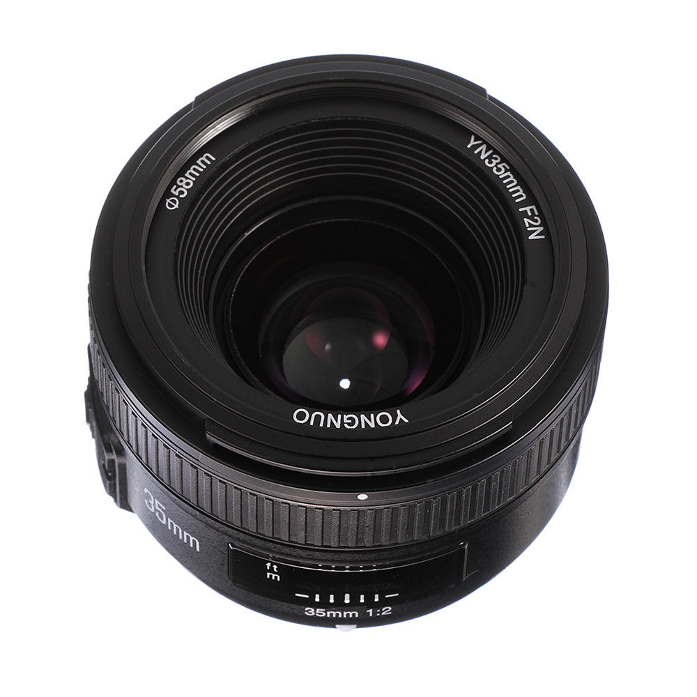 <font><b>YONGNUO</b></font> <font><b>35mm</b></font> F2.0 Large Aperture AF/MF Auto Focus / Manual Focus Wide-angle Lenses for <font><b>Nikon</b></font> D7100 D7200 D750 D3200 DSLR Cameras image