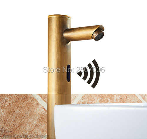 GIZERO Antique Bathroom Touchless Sensor Basin Faucet For Hospital/Hotel/Home Water Saving Tap Infrared Sensor Faucet ZR8823