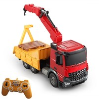 Electric Remote Control Engineering Truck Vehicle 2.4G E565 001 Simulation Lift Construction Truck Big Crane RC Truck Model Toy
