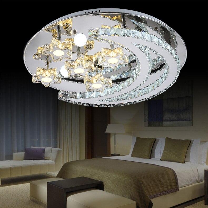 Moon Lights Bedroom: Modern Round LED Ceiling Lights For Living Room Bedroom