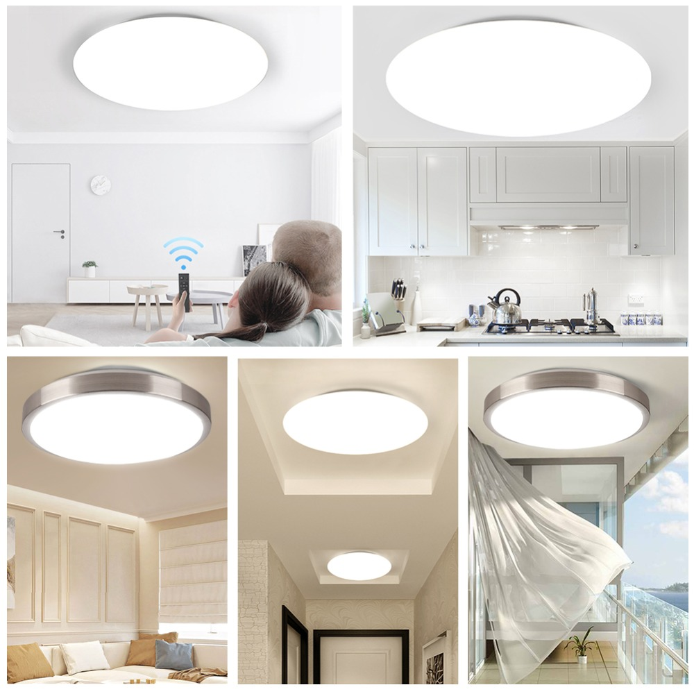 Modern LED Ceiling Light Lighting Fixture Lamp Surface Mount Living Room Bedroom Bathroom Remote Control Home Modern LED Ceiling Light Lighting Fixture Lamp Surface Mount Living Room Bedroom Bathroom Remote Control Home Decoration Kitchen