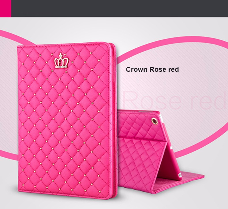 Bling Crown Coque for iPad mini 1 mini 2 mini 3 Case Luxury Stand A1432 A1454 A1490 Cover for iPad mini 1 2 3 Luxury Cover (1)
