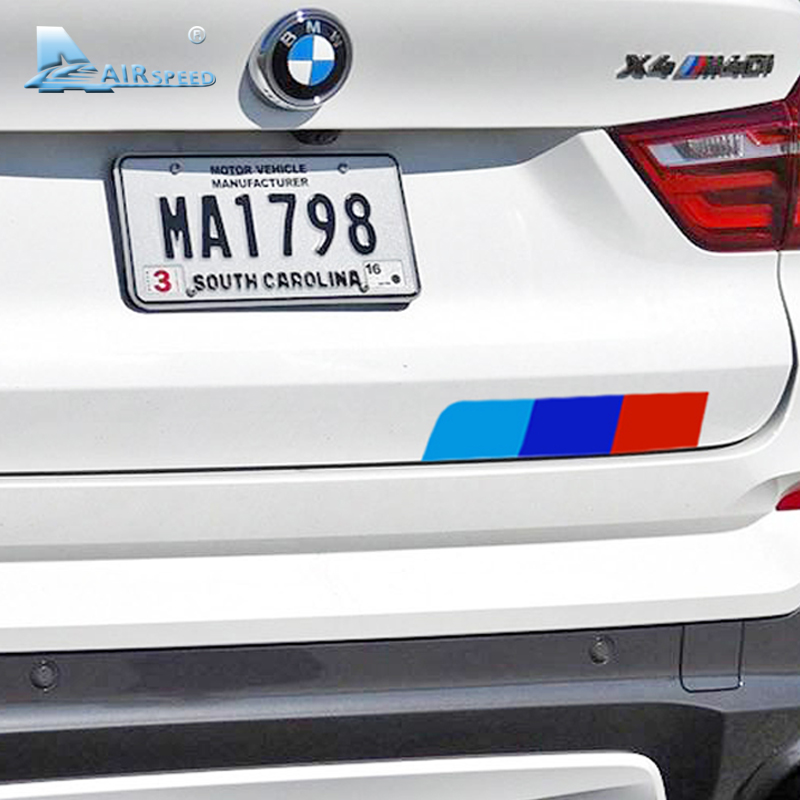 Airspeed Car Rear Stickers Motorsport Decals for BMW F20 F30 F10 E90 E36 E46 E39 E60 X5 Accessories Car Tail Sticker Car Styling cool custom made led door sill scuff plate welcome pedal car styling accessories for bmw e46 e39 e36 e46 e60 e90 ects