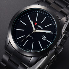CURREN אופנה חדשה גברים שעונים מלא פלדת שעוני יד Reloj שעון לוח השנה קוורץ צבאי זכר עסקי מזדמן שעון קלאסי