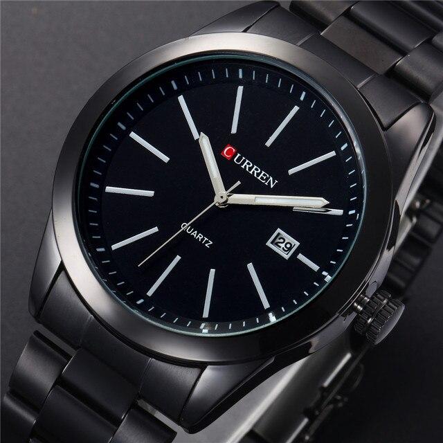 CURREN موضة جديدة الرجال الساعات كامل الصلب ساعة اليد الكلاسيكية الأعمال الذكور ساعة عادية العسكرية كوارتز التقويم ساعة Reloj