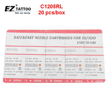 EZ Tattoo Needle Cartridges 5 Round Liner Long Taper 20 Pcs /Box C1205RL
