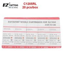 EZ Cartuchos de Agulhas de Tatuagem 5 Round Liner Taper Longo 20 Pçs/caixa C1205RL para Sistema de Cartucho Máquina e Apertos 20 pçs/lote