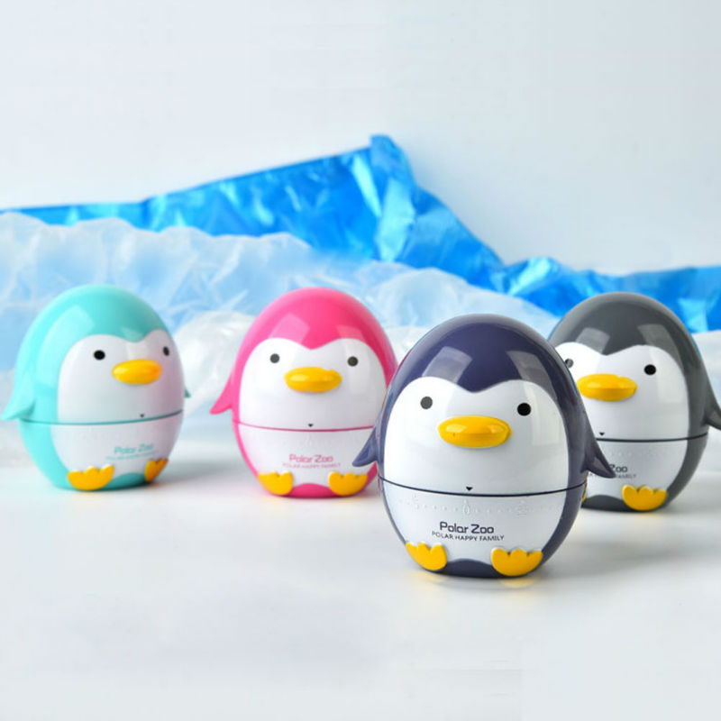 Cute Penguin Shaped Kitchen Cooking Timer Countdown 55 Minutes Alarm ABS Plastic Cooking Tool Kitchen Timer