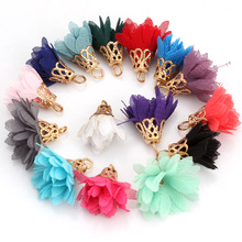 OlingArt  10PCS/LOT lace tassel for DIY jewerly making with earring/necklace/bracelets/ring other charm