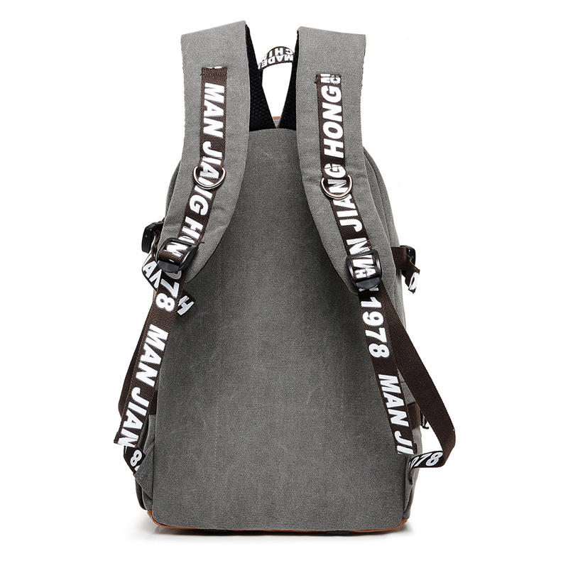 Купить с кэшбэком Large Capacity Casual Canvas Men Travel Backpack Fashion Printing School Backpack Women Patchwork Men Laptop Bag Rucksack 1244