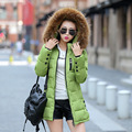 New warm Winter Jacket women casual female Parka Hoodie cotton-padded thick jackets fur Parkas woman plus size M-3XL F875