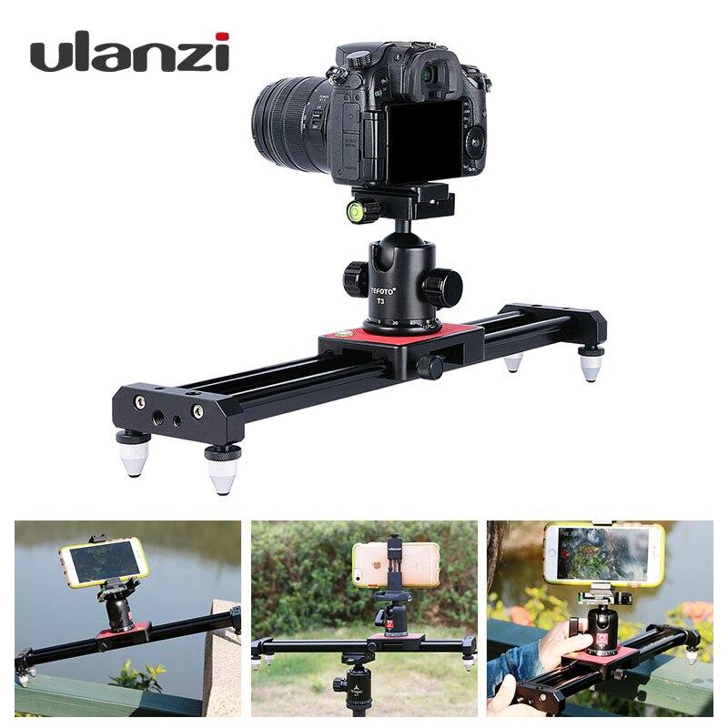 Ulanzi 40 см/15in мини Алюминий Камера видео трек Долли слайдер Железнодорожный Системы для Nikon Canon DSLR Камера DV фильм Vlogging Шестерни
