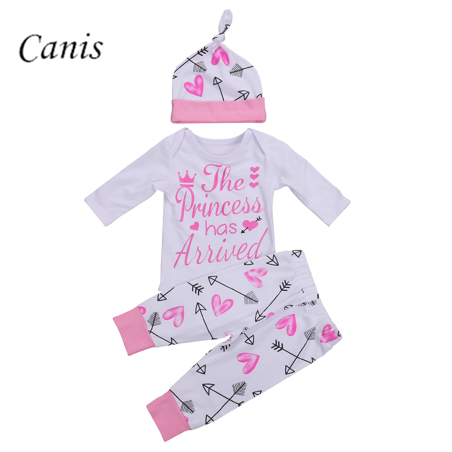 Mama/'s Mini Baby Mädchen Kleidung Langarm Body Hose Hut Stirnband Outfit Set