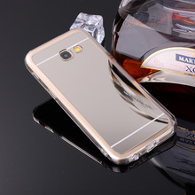 Luxury Electroplating Mirror Soft Clear TPU Phone Case For Samsung Galaxy A3 A5 A7 2017 A320 A320F A520 A520F A5200 A720 Cases