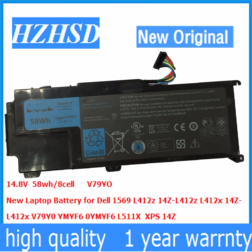 14.8v 58wh Original New V79Y0 Laptop Battery for Dell XPS 14z Series XPS 14Z-L412X XPS 14Z-L412Z V79YO YMYF6 0YMYF6 цена