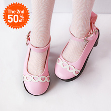 Shoes for BJD doll high heel pink Toy Mi