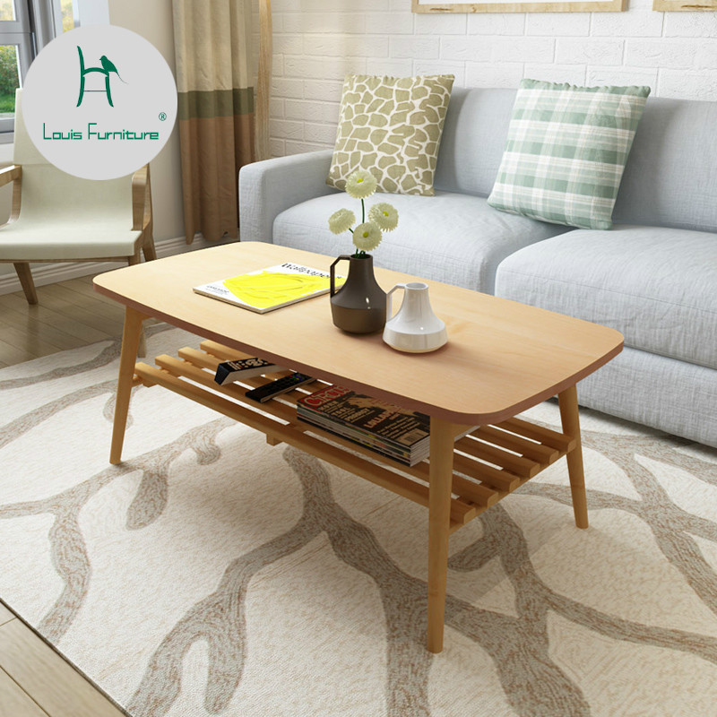 Us 160 9 Louis Fashion Coffee Table Nordic Living Room Small Apartment Simple Modern Storage Solid Wood Double Deck In Tables From Furniture
