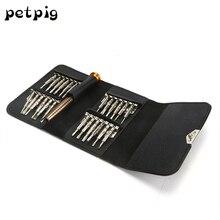 25 в 1 Портативный бумажник отверточный набор « сотовый телефон компьютер часы мешочек для очков комплект телефон ремонт инструменты набор шестигранников