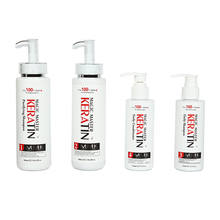 Without Formalin Brazilian Magic Master Keratin Treatment+Purifying Shampoo+Daliy Shampoo & Conditioner Straighten Frizzy Hair seb man the purist purifying shampoo