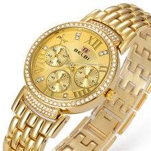 Relojes mujer 2016 Marca de Moda de Lujo Relojes de Señora Con Cierre Desplegable de Safrty Impermeable Relojes de Cuarzo-reloj Zegarki Damskie