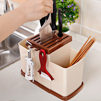 New Multi Function Shelves High Quality PP Plastic Storage Rack Kitchenware Chopsticks Knife Shelf Kitchen Bathroom