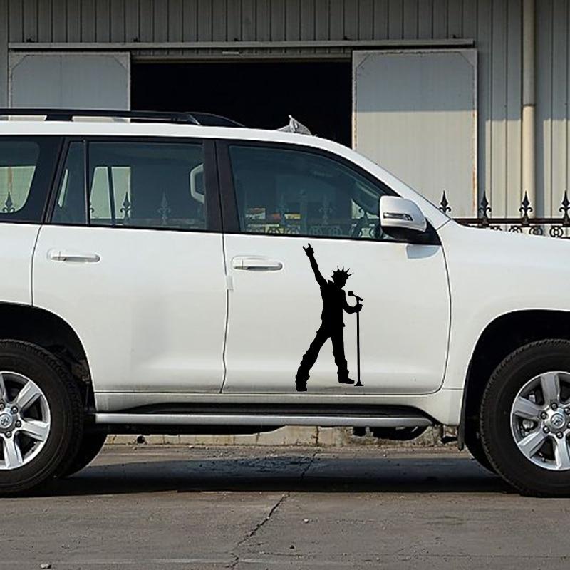 58cm x 27cm Rock Band singer Silhouette Music Car Sticker For Cars Side, Truck Window ,Auto SUV Door Kayak Vinyl Decal 8 Colors зимняя шина nokian hakkapeliitta 8 suv 265 50 r20 111t