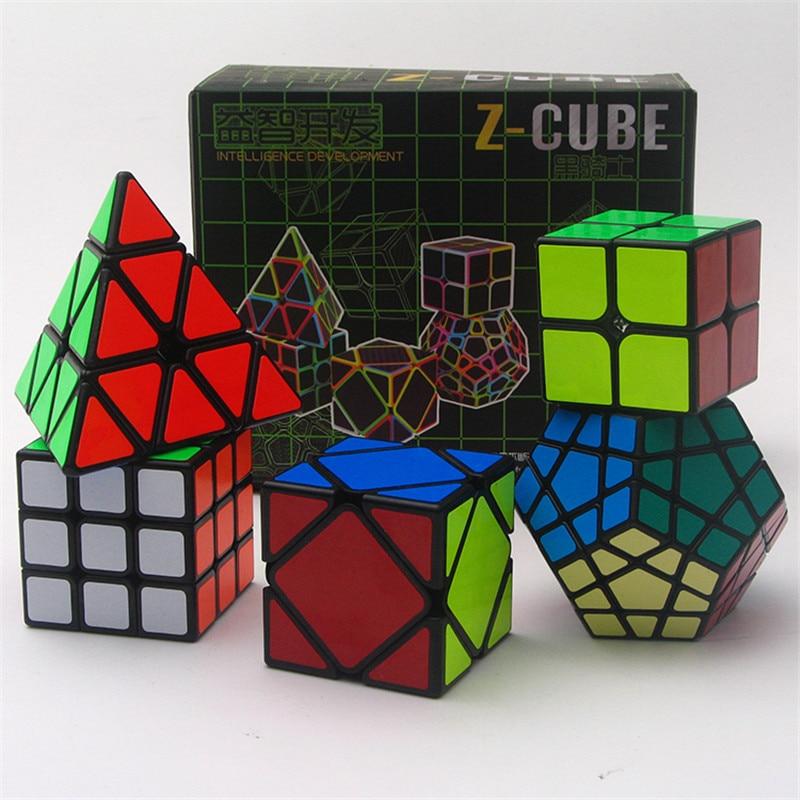 5 pcs/ensemble 2x2x2 3x3x3 Puzzle Cube Pyramide Magic Cube Jouets Éducatifs Puzzle skew Cube Cadeau pour Enfants ou Adultes