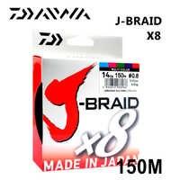 J-BRAID Daiwa 8A 150M oryginalny zielony/trawa zielona kolor 8 pleciony żyłka wędka z pojedynczą żyłką 10-60lb made in japan