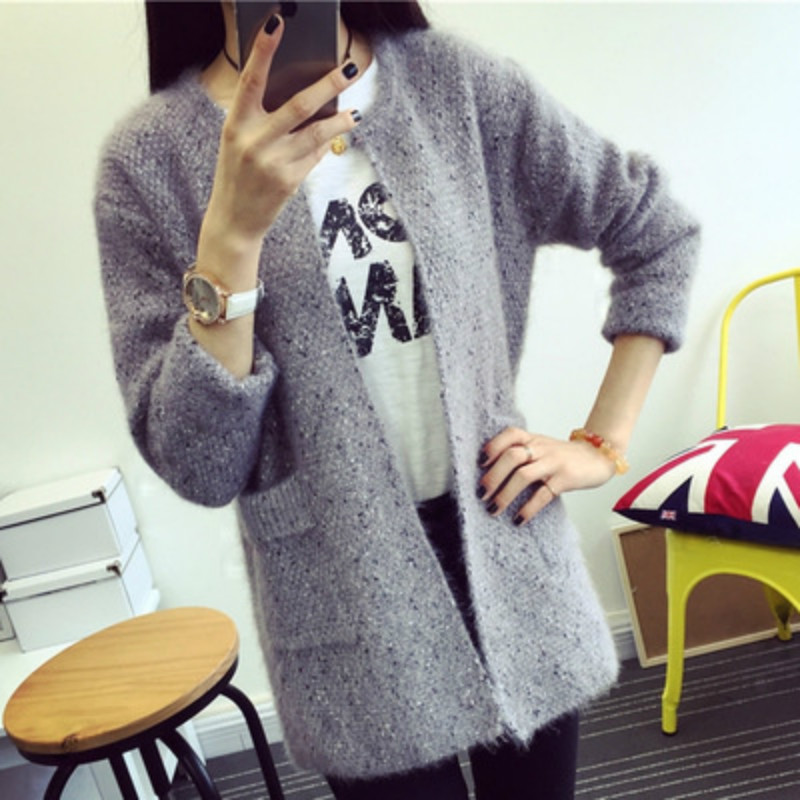 2017 New Arrival Women Sweater High Quality Handle Basic Knitting Coat Stretch Knitwear Sweater Cardigan