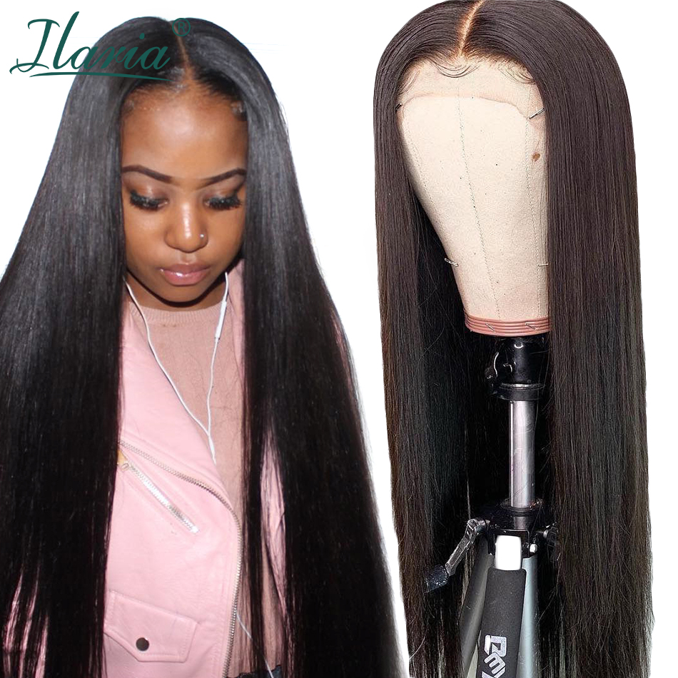 Ilaria Lace Front Human Hair Wigs For Black Women Brazilian Straight Remy Hair Wig With Baby Hair Pre Plucked Natural Hairline