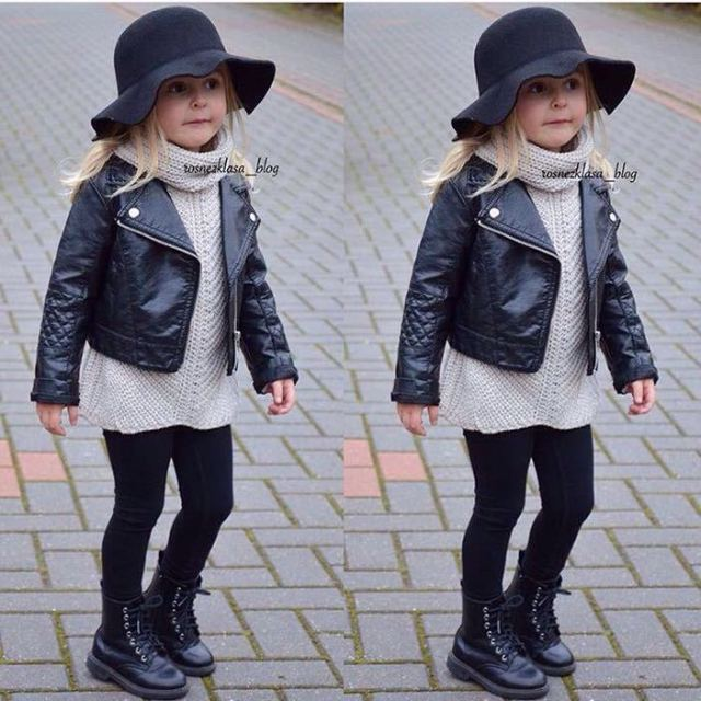 New Fashion Leather Jacket For Baby Boy And Girl
