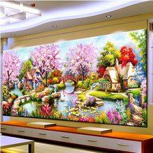 2018 Новый DIY пейзаж алмазов картина сад Cottages Lodge полный квадратный/мозаичная картина для гостиная домашний декор