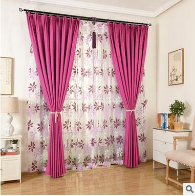 Solid Colors Blackout font b Curtains b font for the Bedroom Faux Linen Modern font b