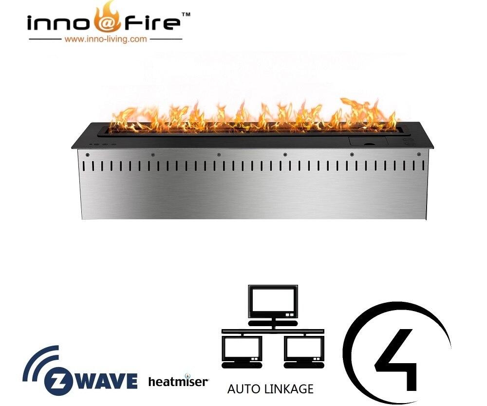 Inno Living Fire 60 Inch Open Haard Bio Ethanol Fireplace Remote Control