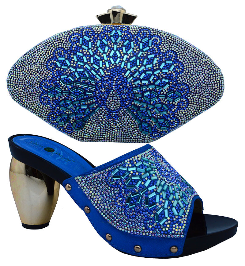 ФОТО African Wedding Shoe And Matching Bag Sets Fashion Women Pumps Shoes Italian Matching Shoe And Bag Set With Stones BCH-11