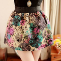 Retro Flowers TuTu Winter big Girl Mini Skirt  Kids Autumn Clothes Fashion Spring Ball Gown Short Skirts Age For 16 17 18 19 20